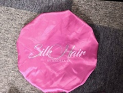 Pink Satin Reversible Bonnet